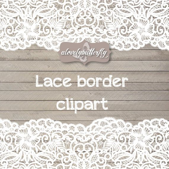 Clipart wedding lace. Border rustic shabby chic