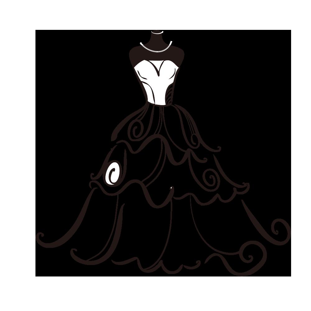 Wedding bride clip art. Fashion clipart dress