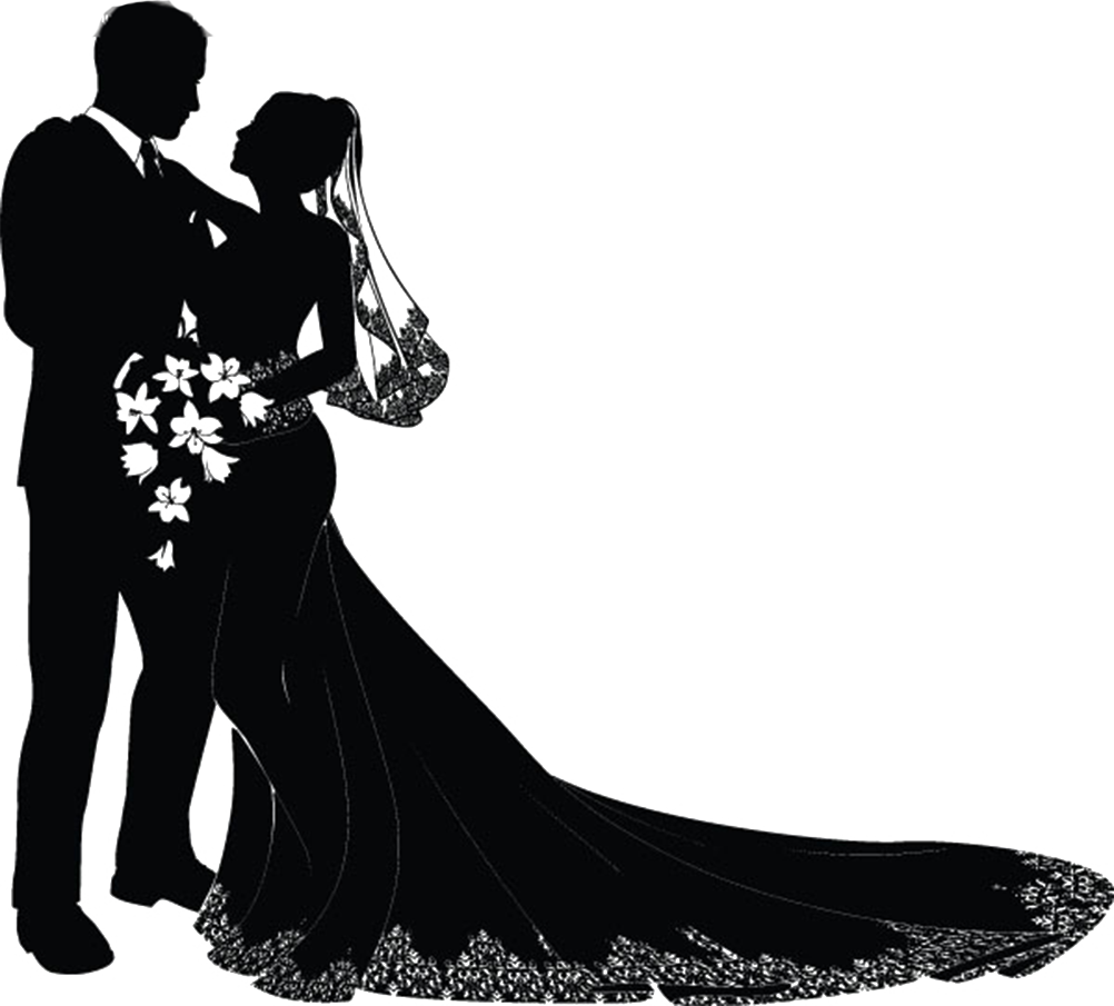 Silhouette at getdrawings com. Clipart wedding marriage