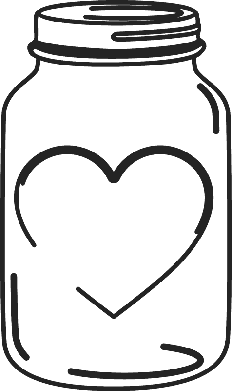Clipart wedding mason jar. Stamp with heart stamps
