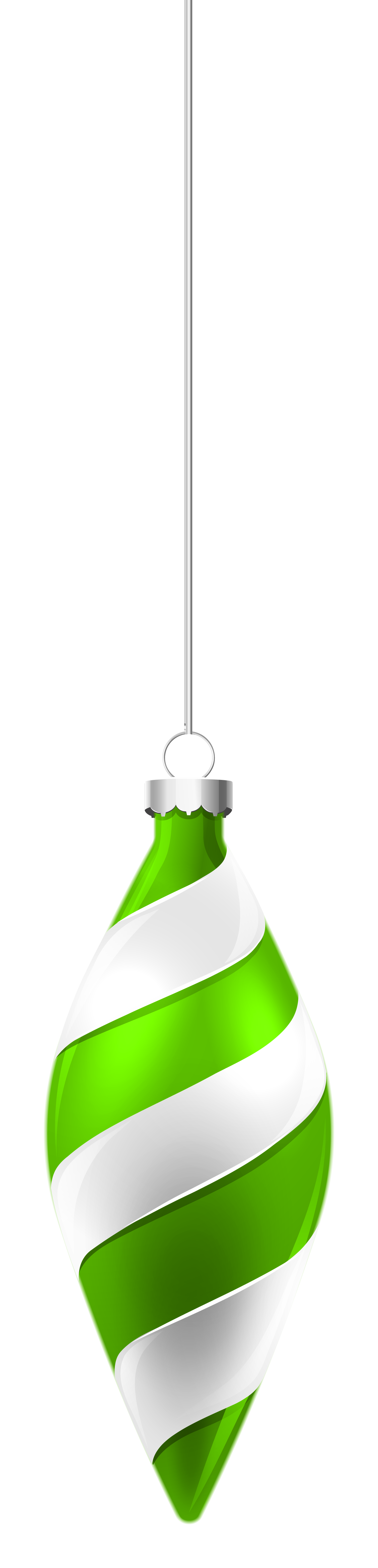 White and green christmas. Clipart wedding ornament
