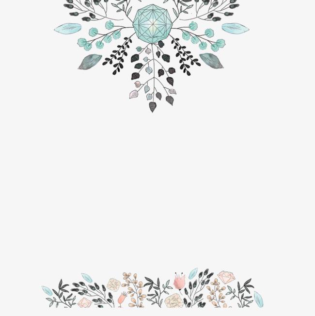 Clipart wedding pattern. Border