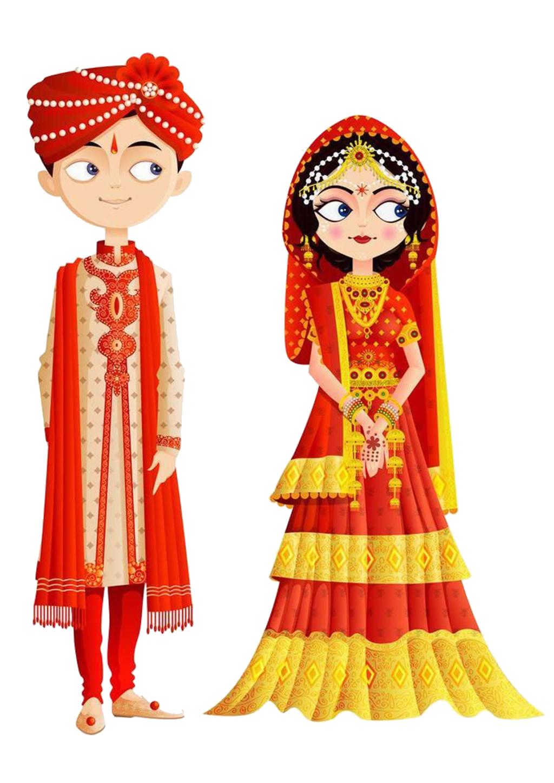 India wedding invitation bride. Fashion clipart fashion indian