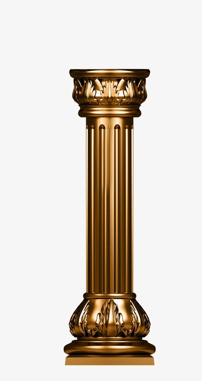 Pillar cylinder png transparent. Column clipart gold