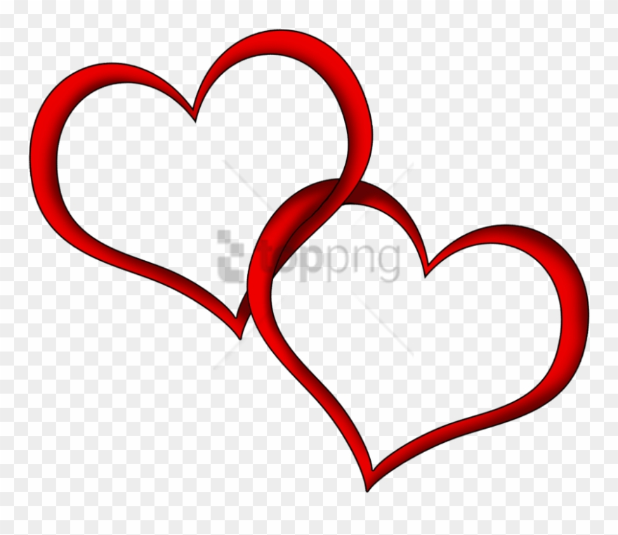 Clipart wedding red. Free png download heart