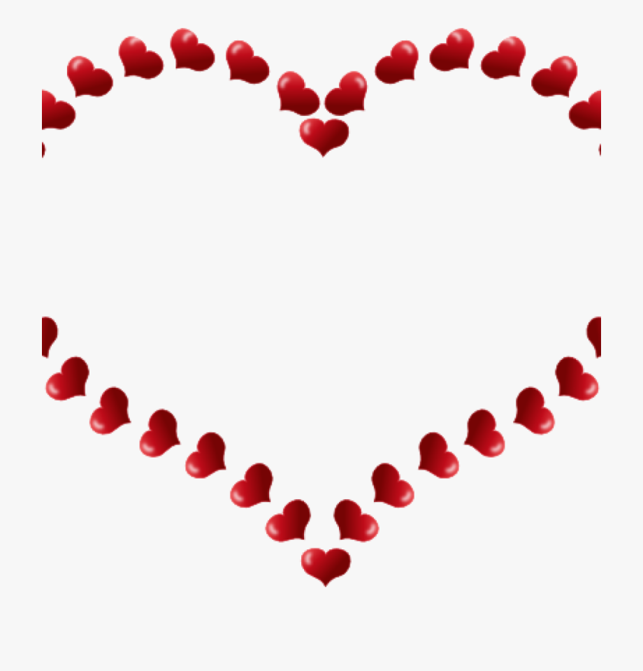 Heart clipart borders. Wedding border free clip