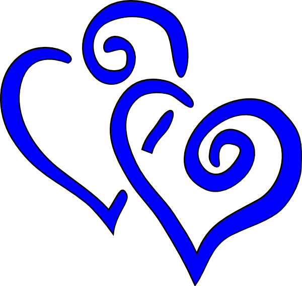 Clipart wedding royal blue. Intertwined hearts clip art