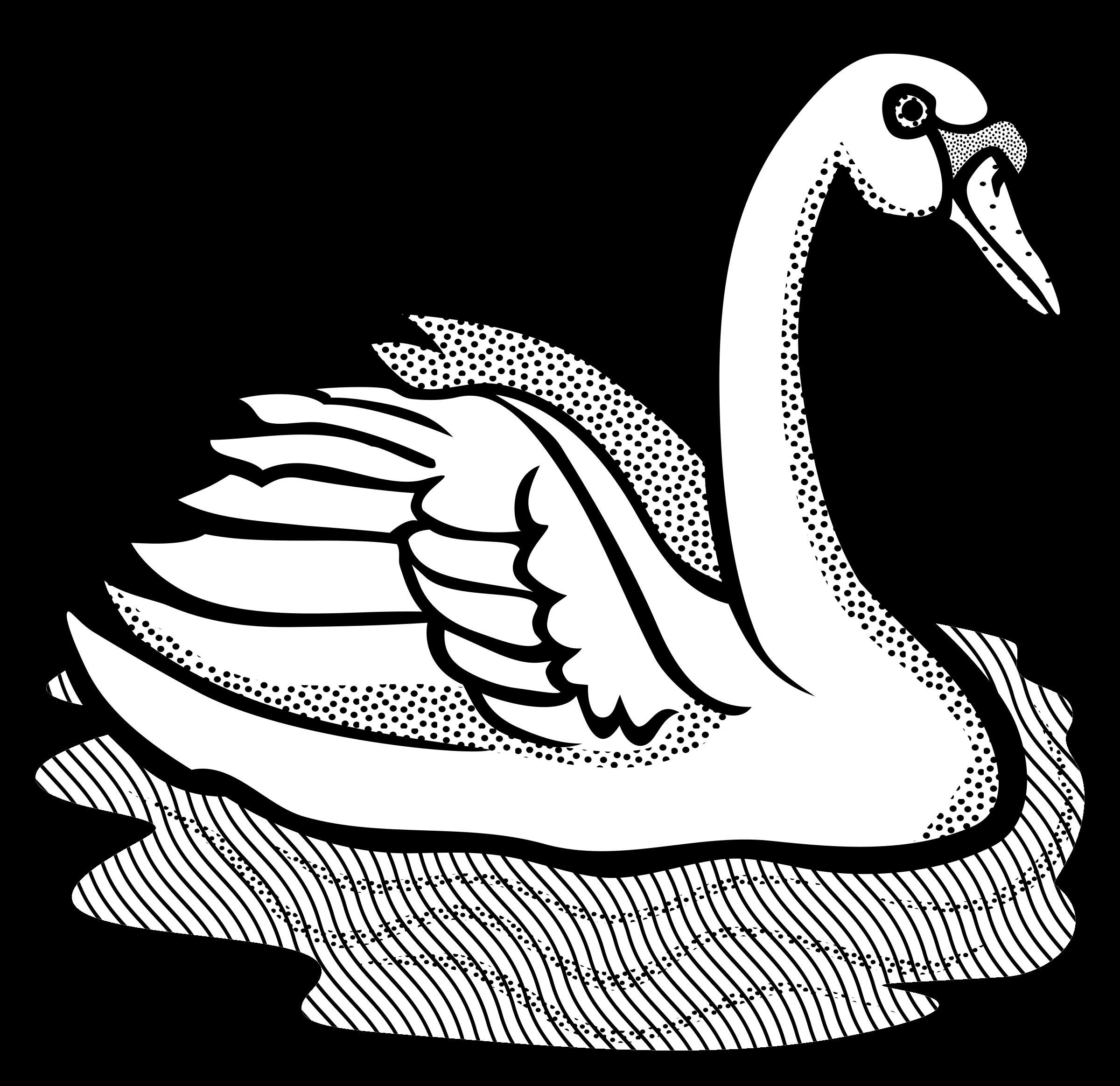 Clipart wedding swan. Line drawing at getdrawings