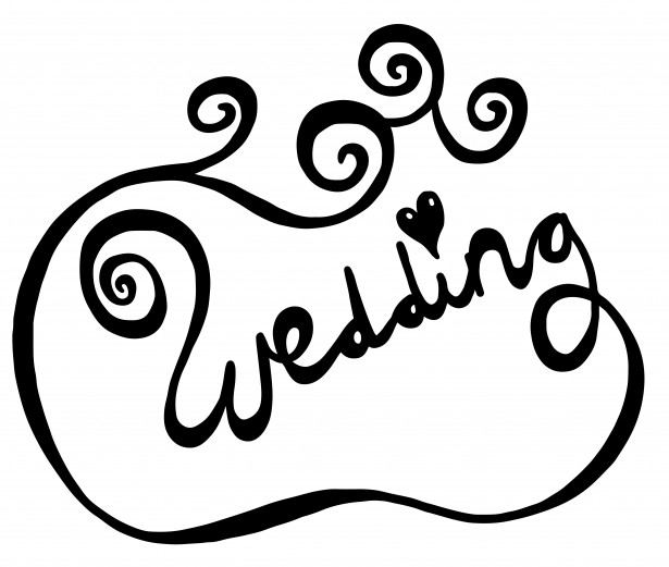 clipart wedding text