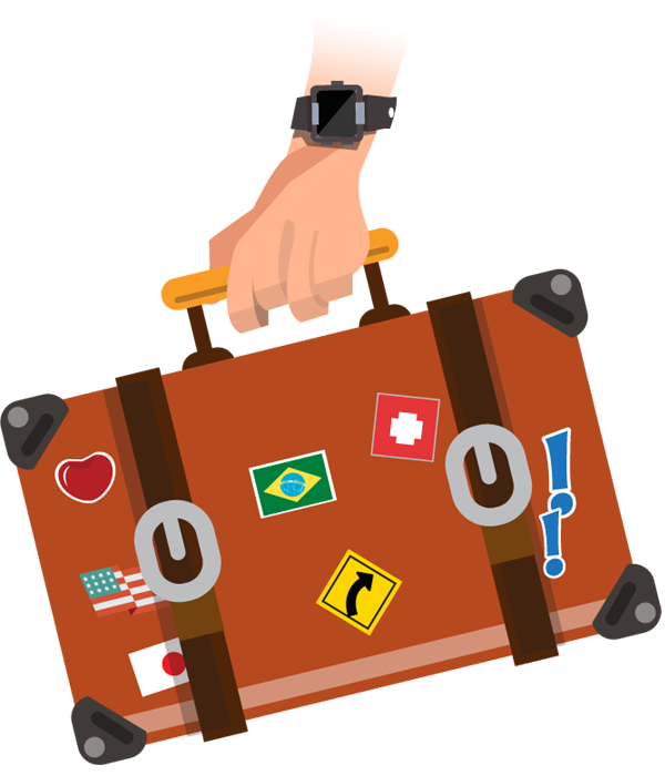lady clipart traveler