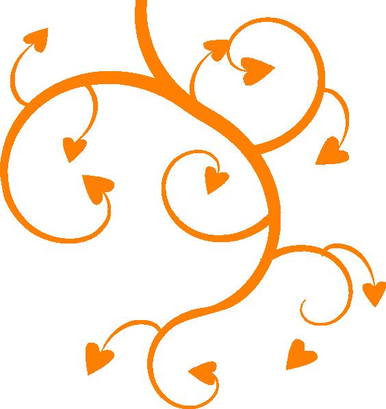Hearts clipart tree. Orange heart clip art