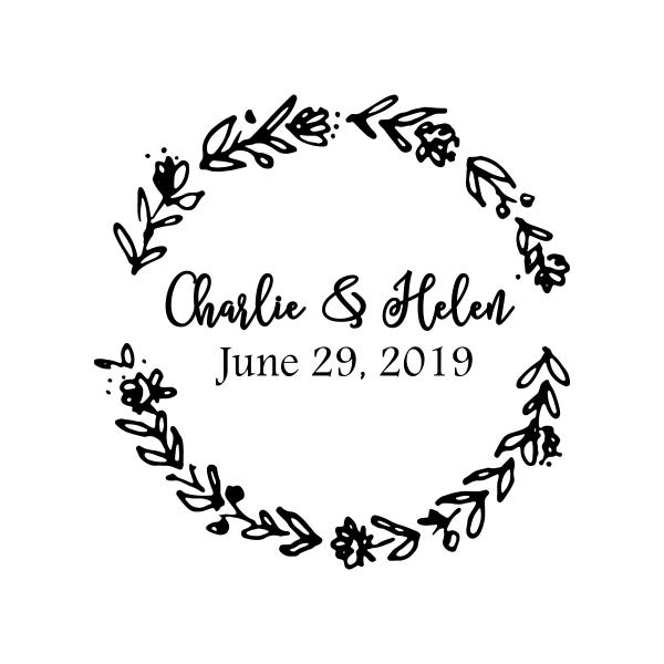 . Clipart wedding wreath