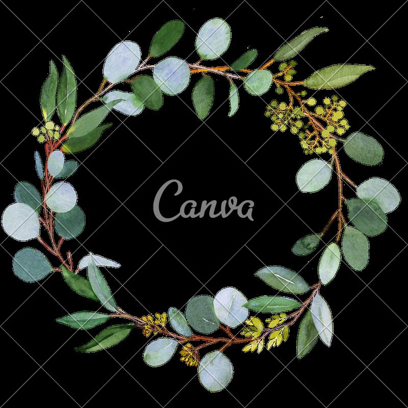 Clipart wedding wreath. Greenery photos by canva