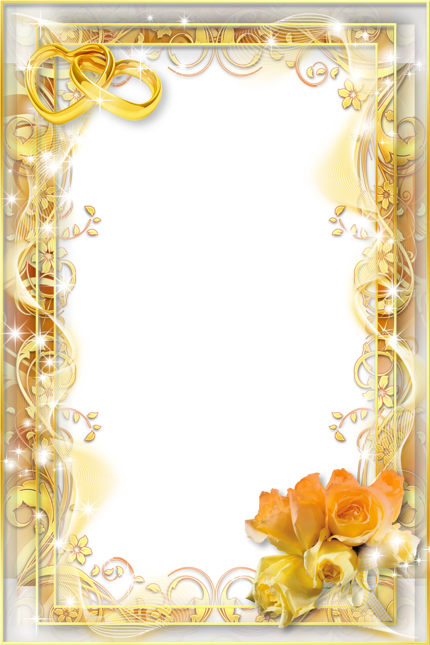 Clipart wedding yellow. Png photo frame gallery