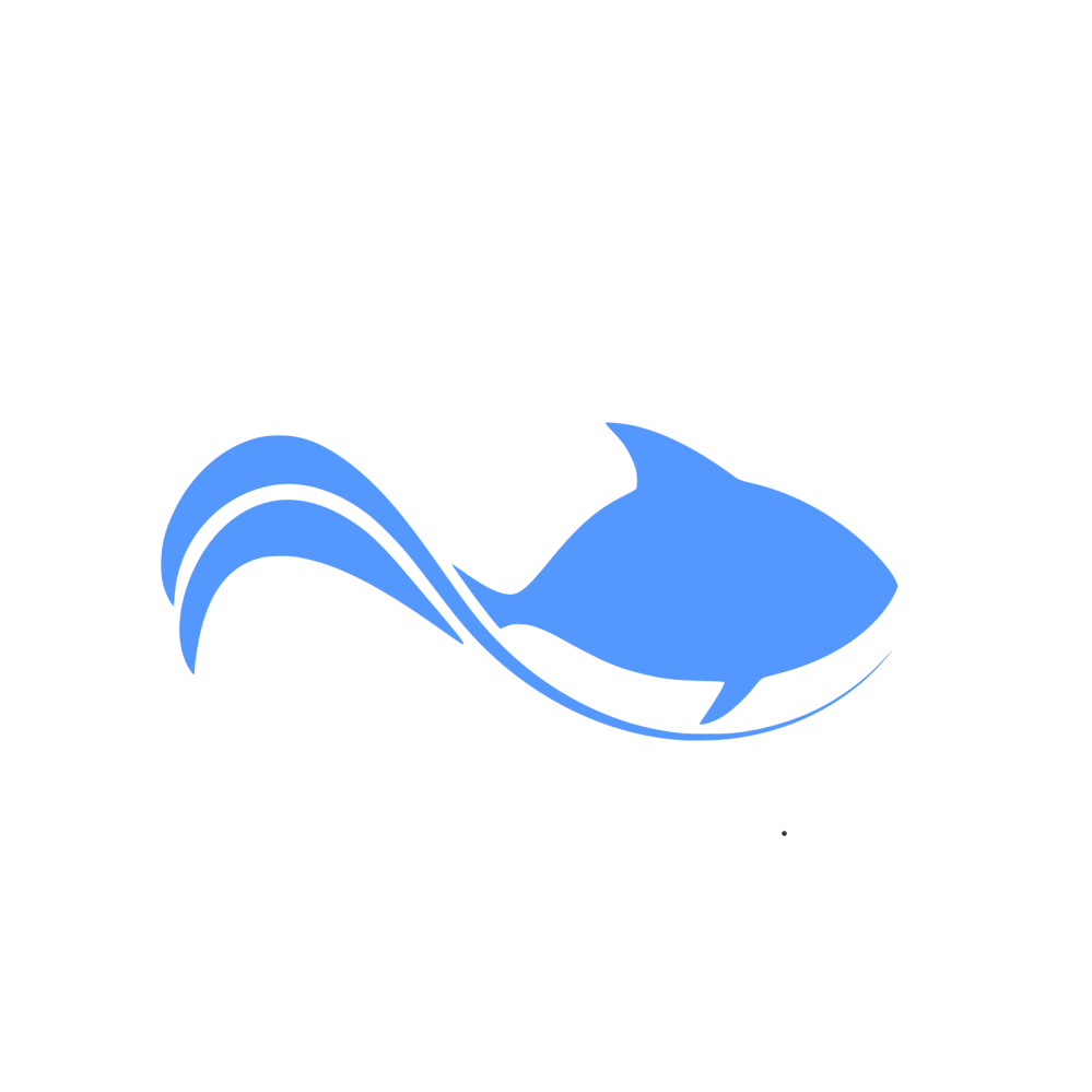 Clipart whale blue object. Fish logo element free