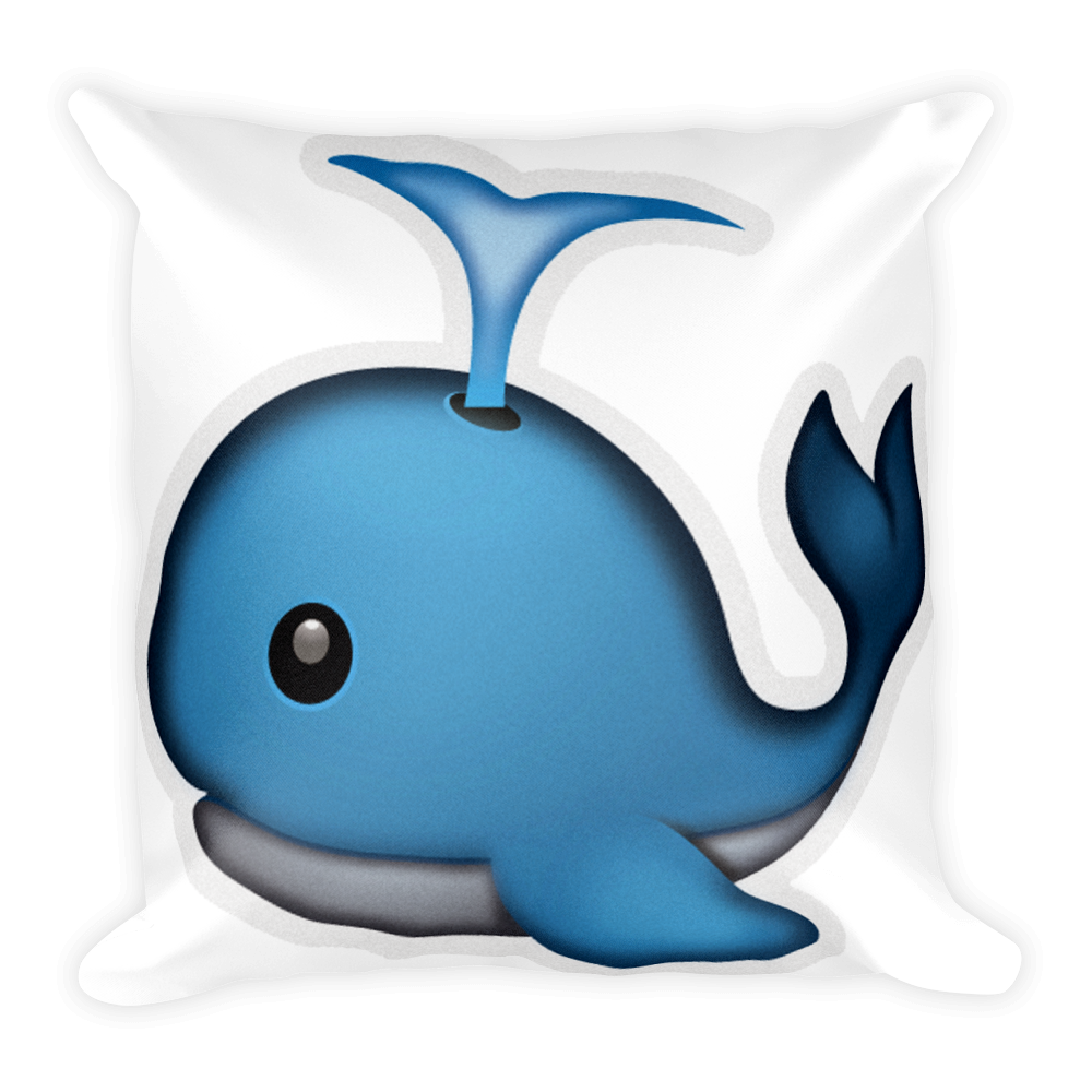 Pillow spouting just. Emoji clipart whale