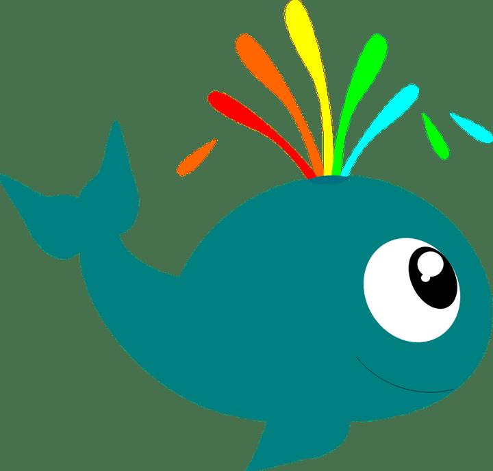 Cartoon image secondtofirst com. Cute clipart whale