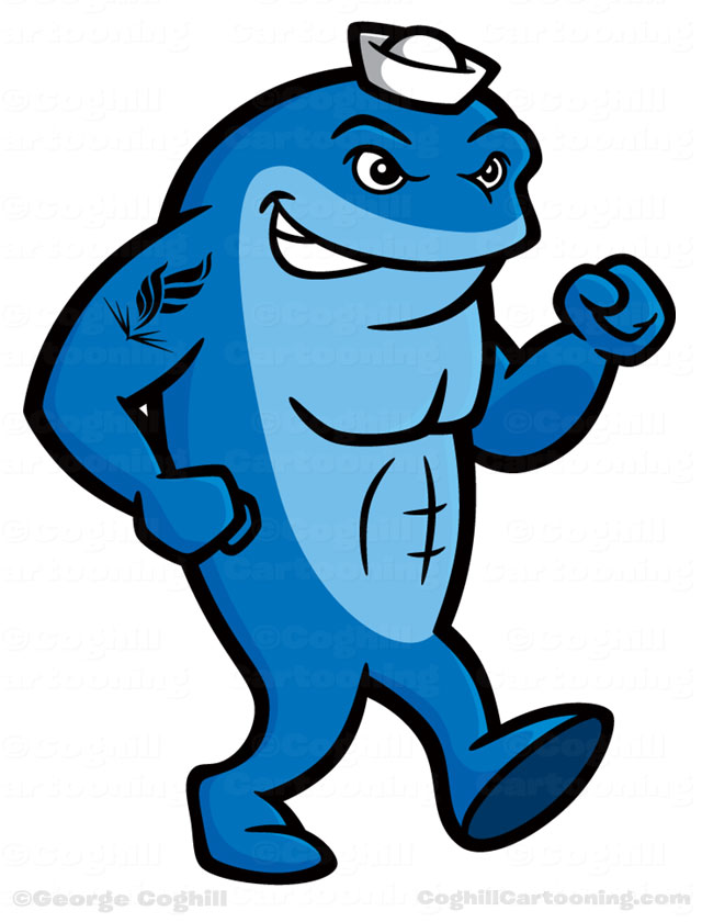 Clipart whale cartoon character. Neomed walking mascot clip