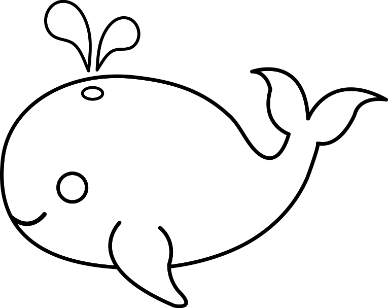 collection of blue. Clipart whale easy