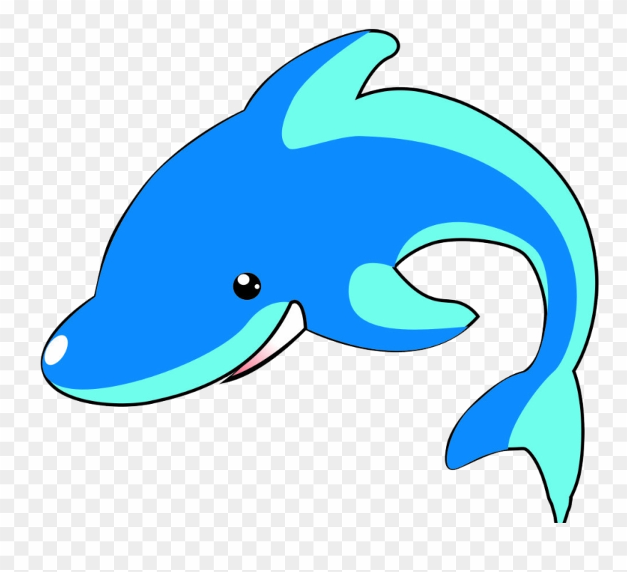 Cartoon blue transprent png. Clipart whale easy