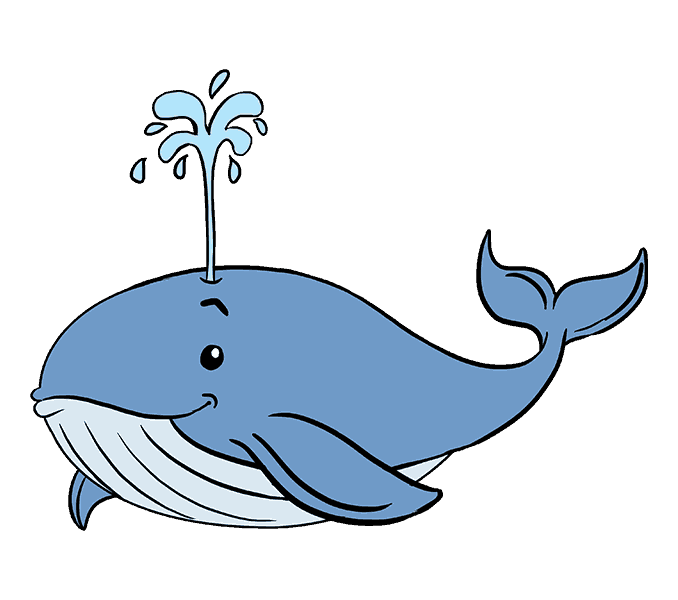 Clipart whale easy cartoon. How to draw a