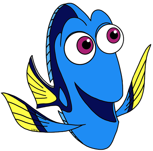 Dory clipart little fish. Finding clip art disney