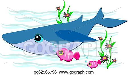 Clipart whale friendly whale. Vector blue with pink