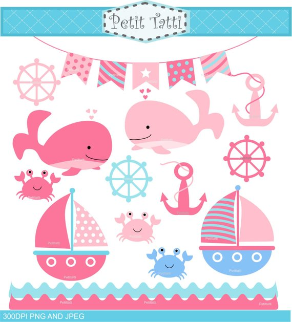 Pink whales clip art. Clipart whale girly