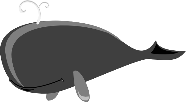 Grey clip art at. Clipart whale gray whale
