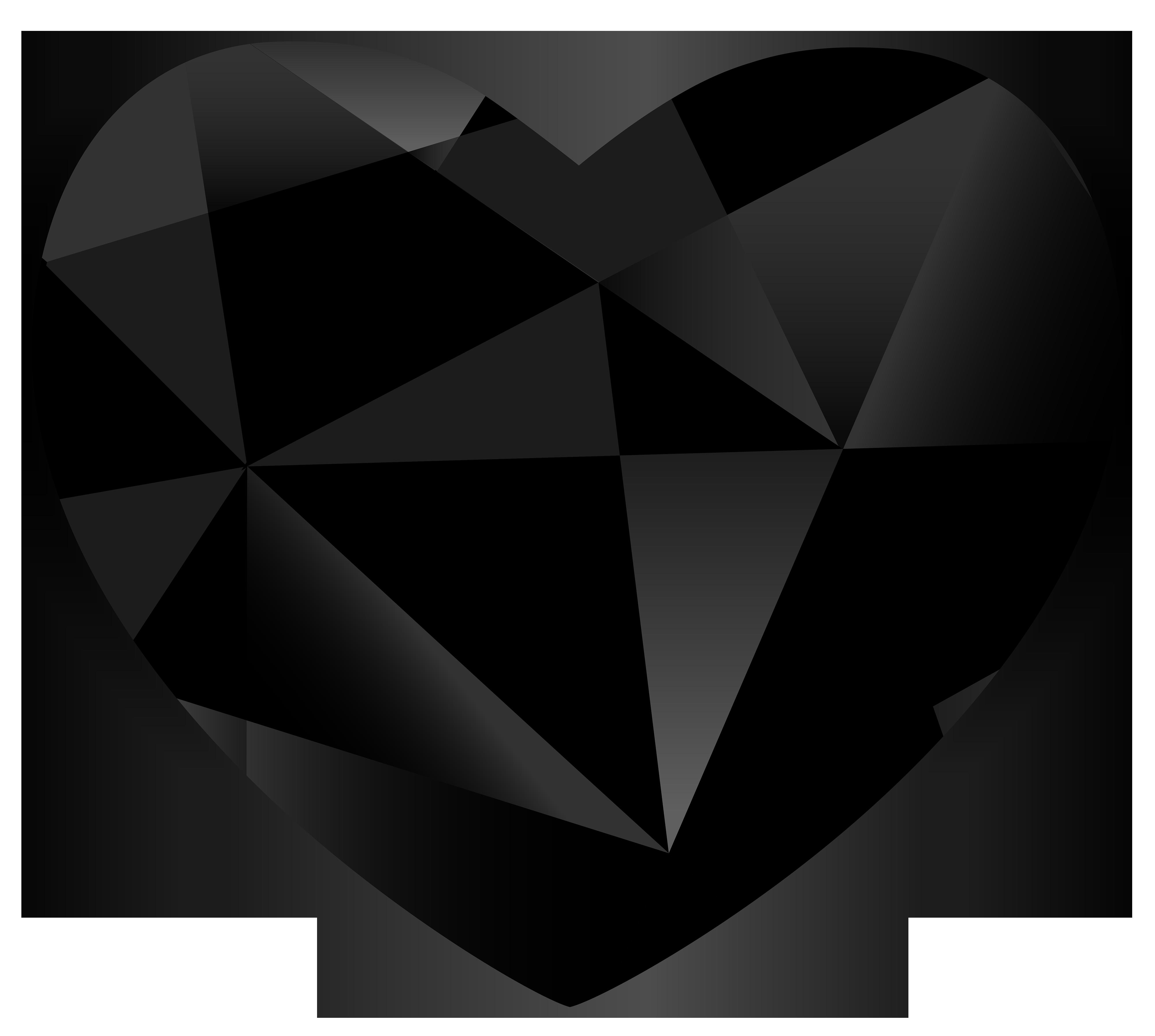 Hearts clipart vegetable. Black gem heart png