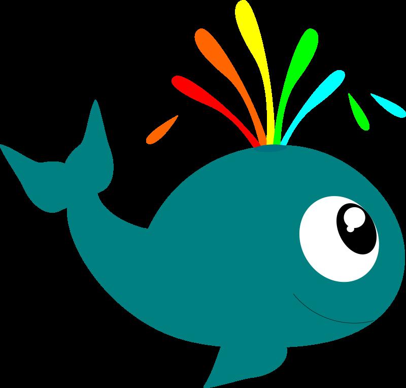 Clipart whale kawaii. Blue clip art watching