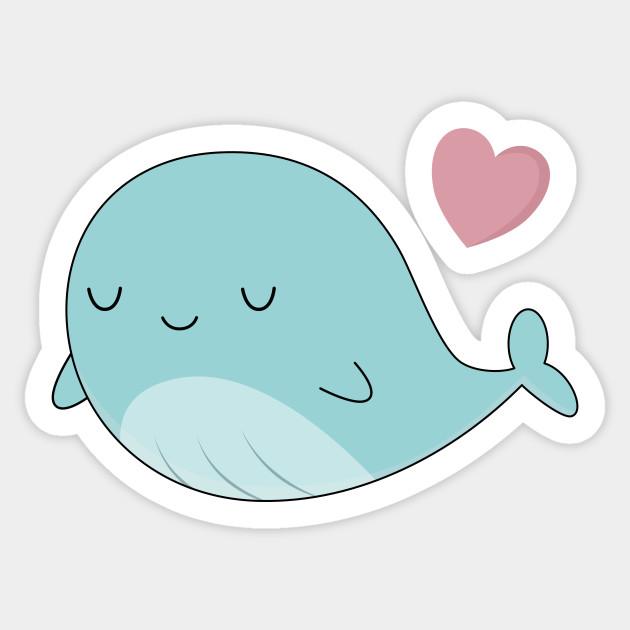 Cute blue . Clipart whale kawaii