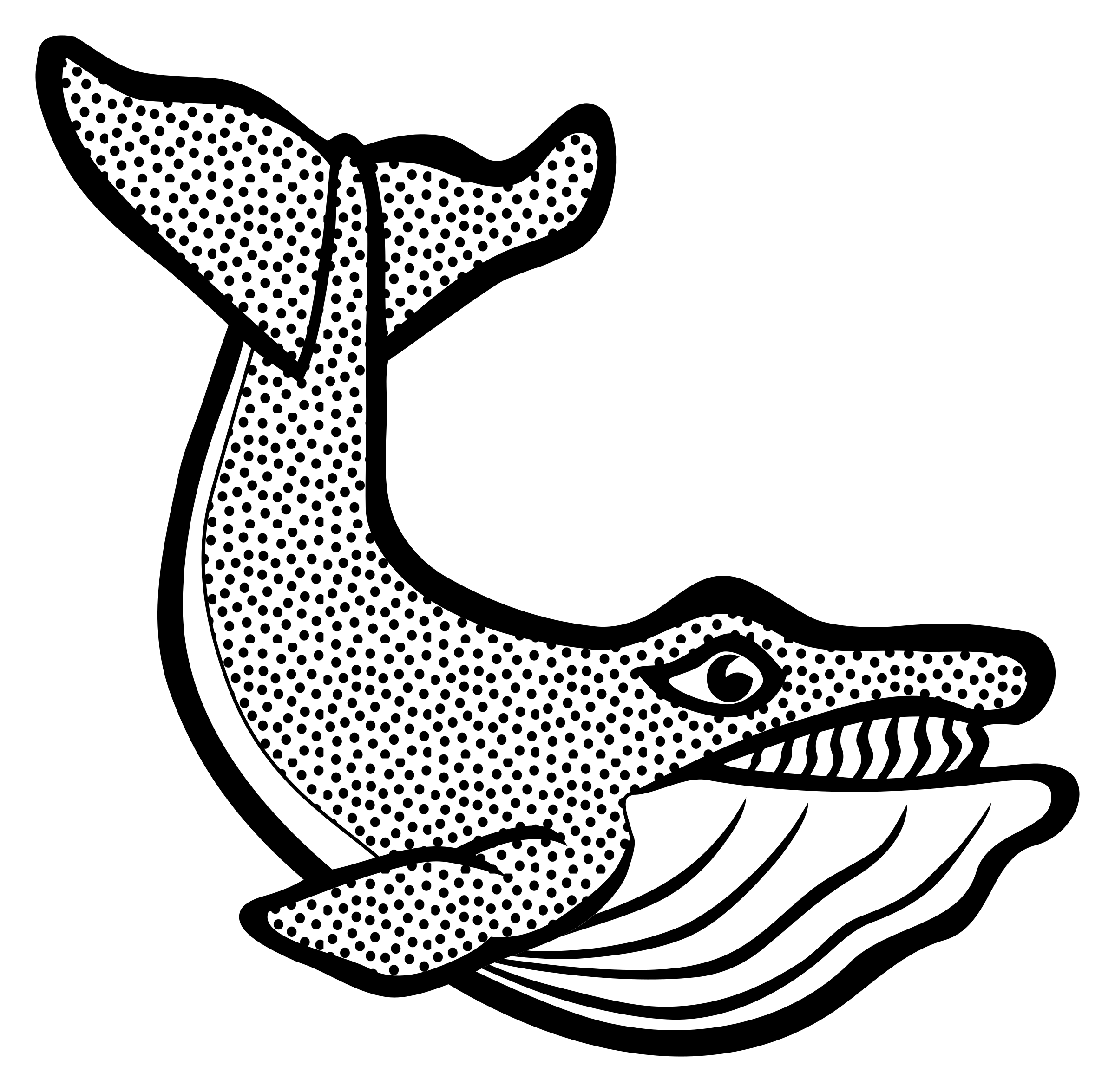 Lineart big image png. Clipart whale line art