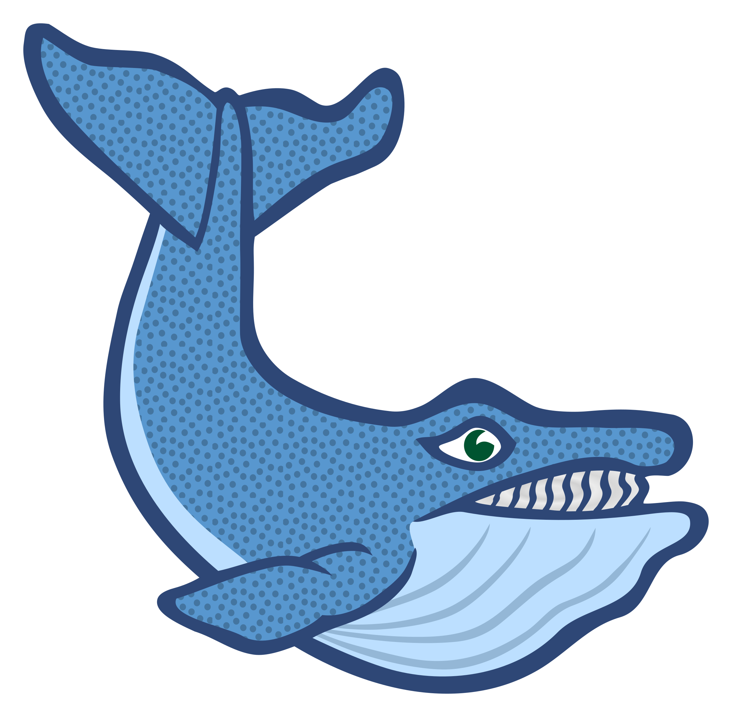 Coloured big image png. Cool clipart whale
