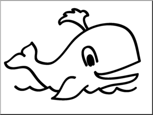 Clip basic words b. Clipart whale line art