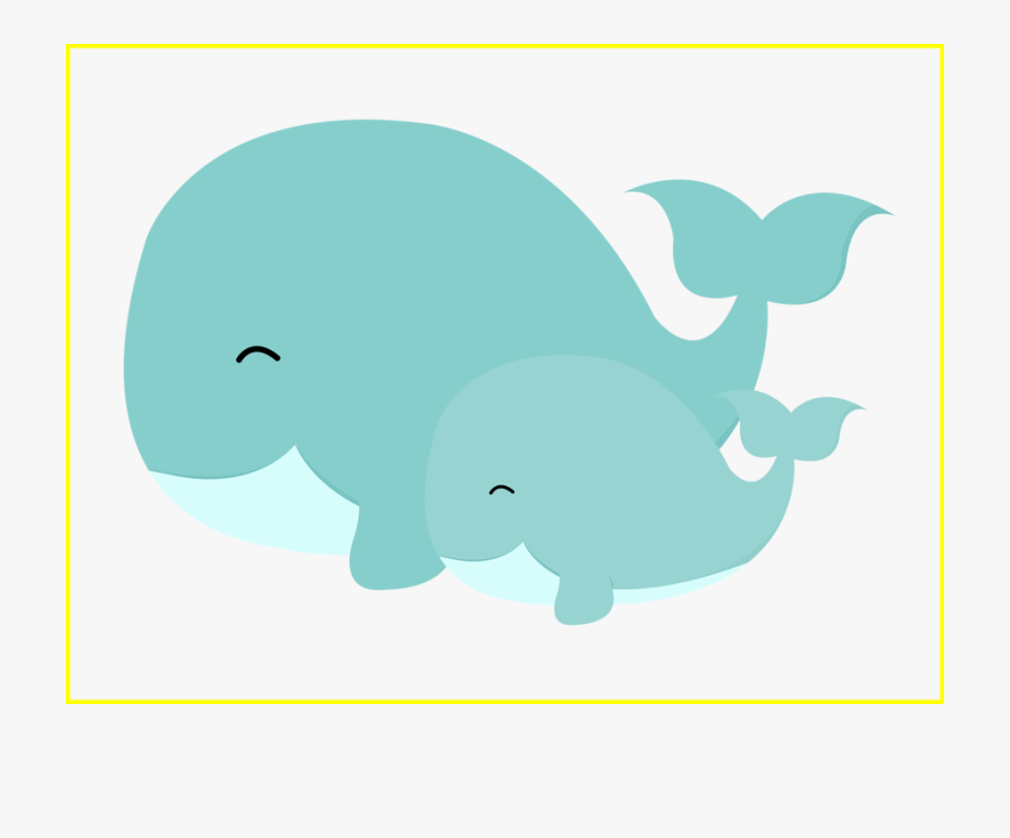 Unbelievable and animals . Clipart whale mom baby