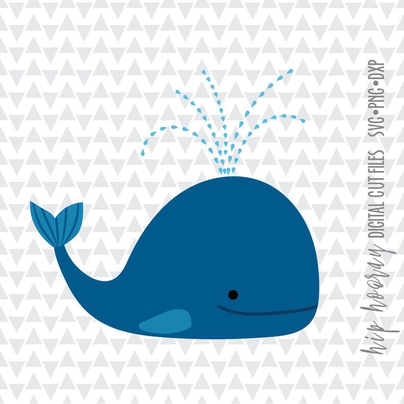 Blue tropical fish monogram. Clipart whale pdf