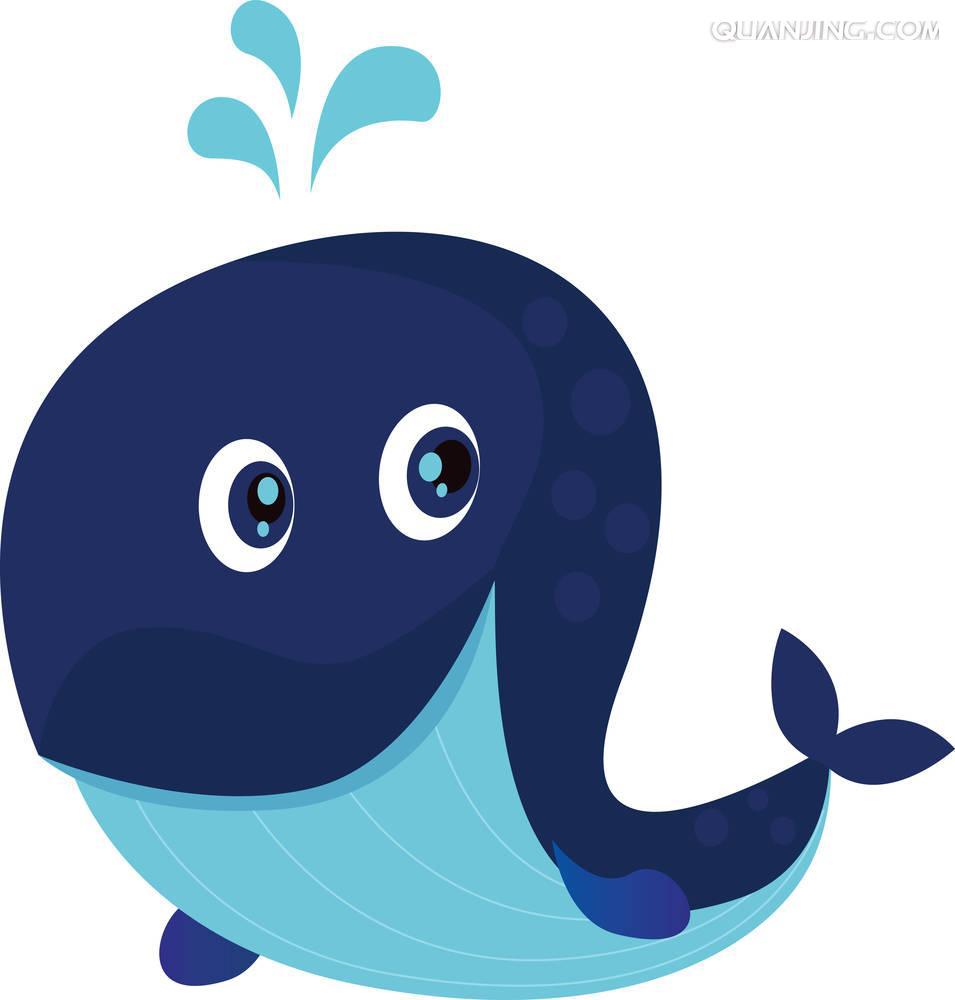 Cartoon blue illustration transprent. Purple clipart whale