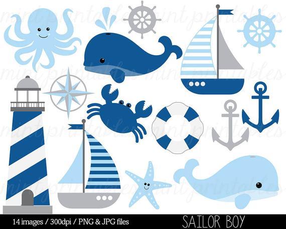Nautical clip art anchor. Clipart whale sailor
