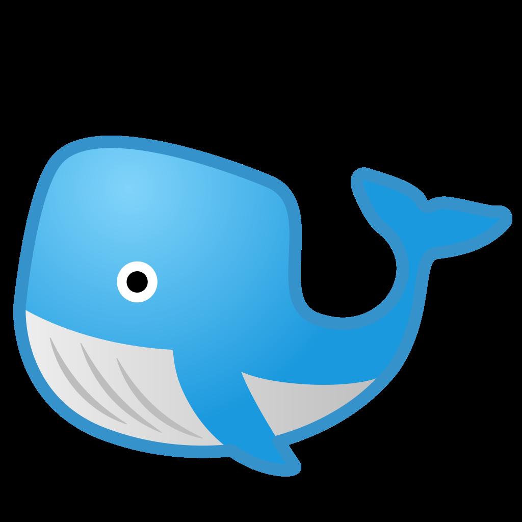 Icon noto emoji animals. Clipart whale shadow
