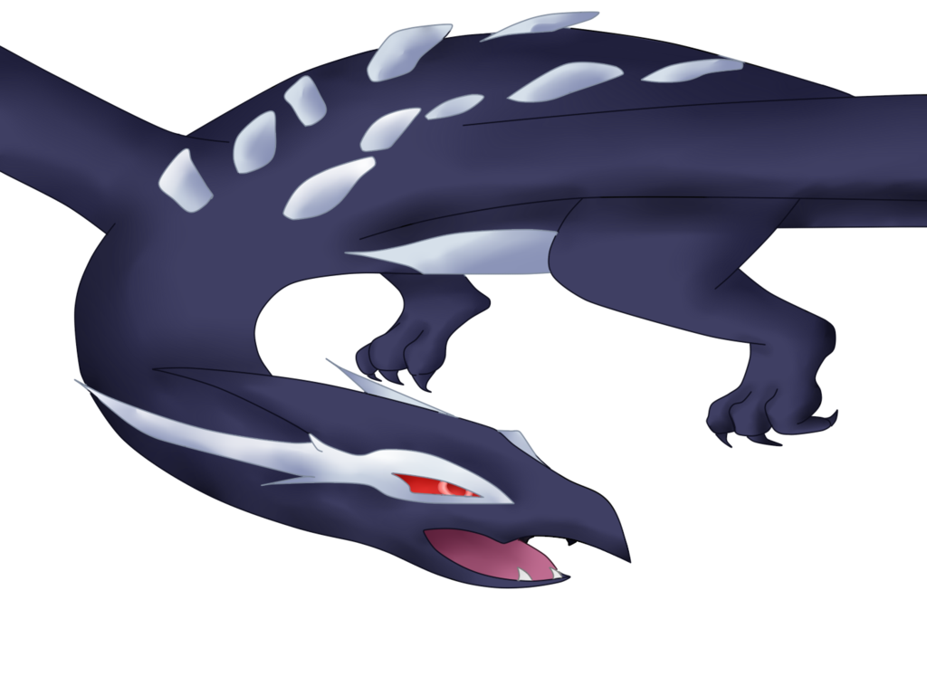 Lugia cross by iidrbubbles. Clipart whale shadow