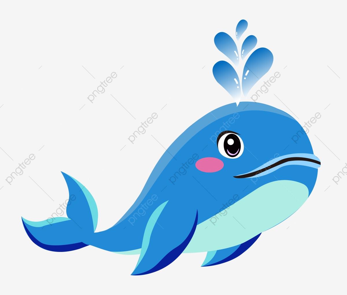 Clipart whale swim. Hand painted leaf cute