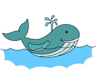 Clipart whale swim. Swimming station