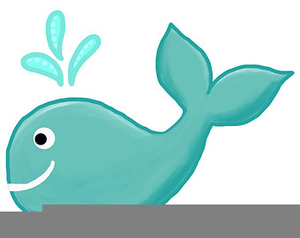 Clipart whale teal. Tail free images at