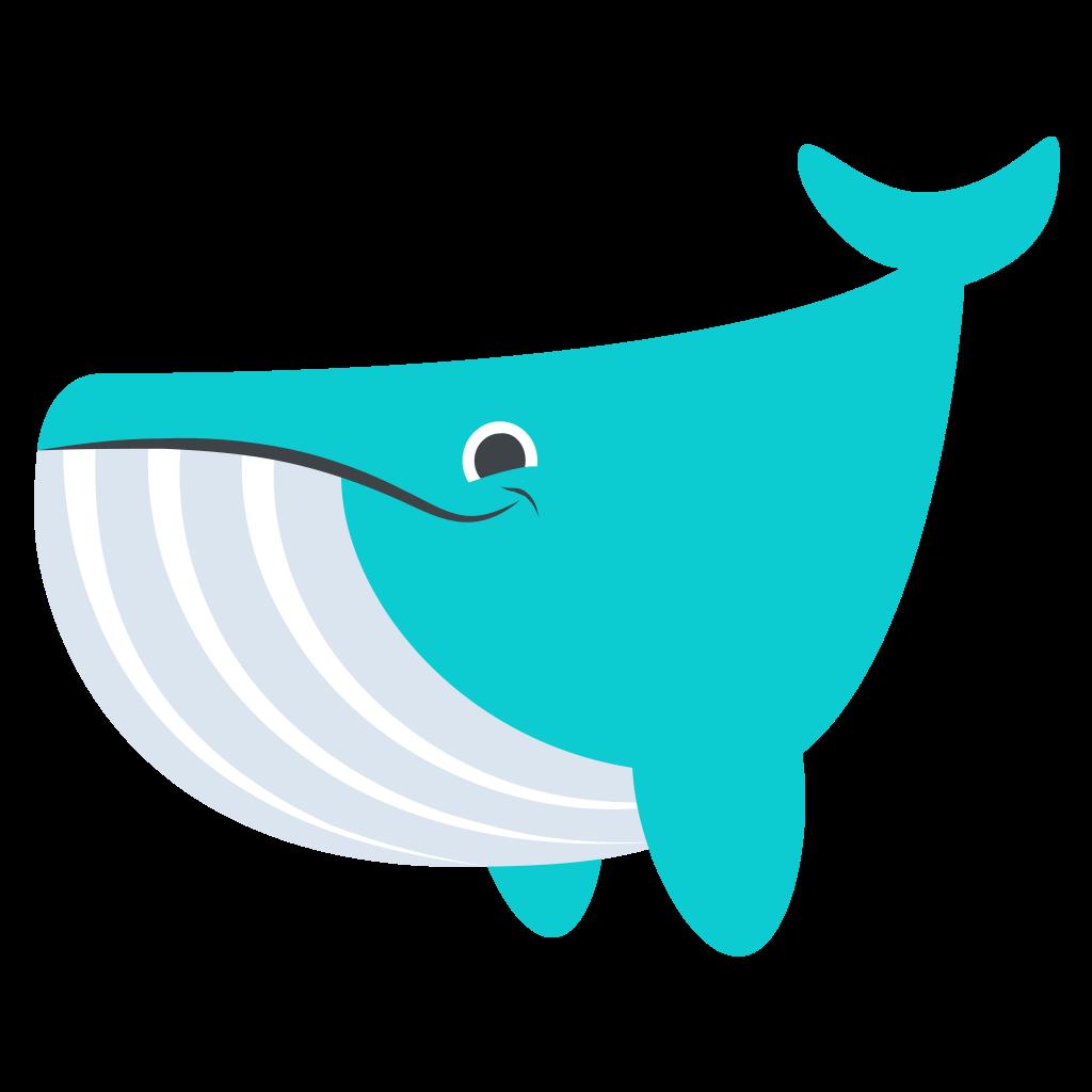 Clipart whale turquoise. File emojione f b