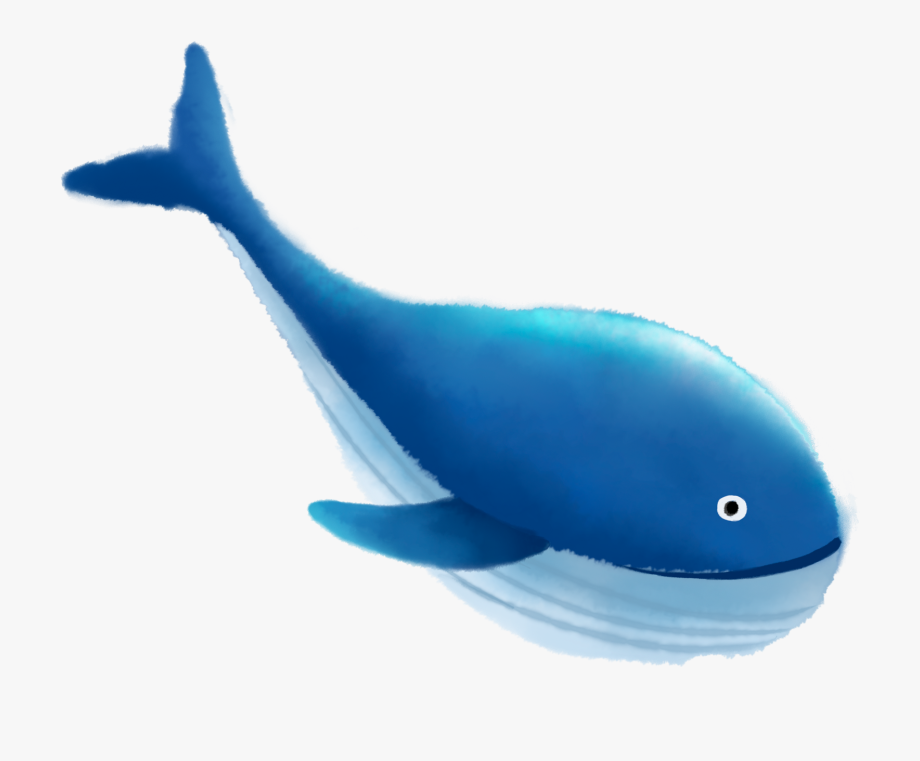 Blue sea png and. Clipart whale whale swimming