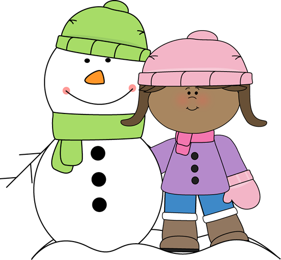 Clip art images girl. Clipart winter