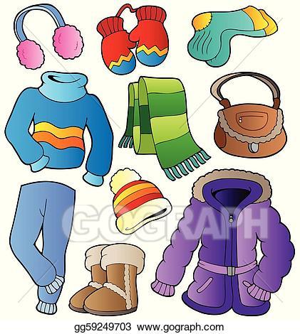 Vector collection . Winter clipart apparel