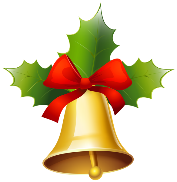 Golden christmas bell png. Clipart winter berry