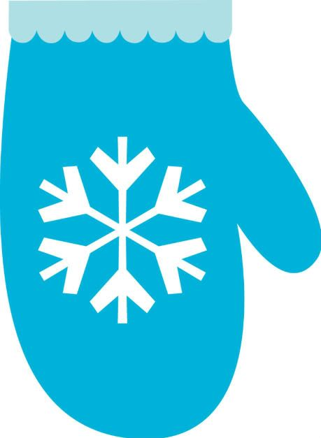 Winter clipart mitten. Blue clip art